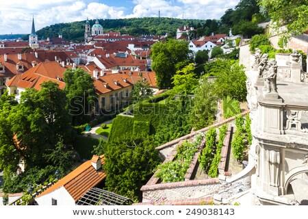 Jardin Prague République tchèque maison ville Voyage Photo stock © phbcz