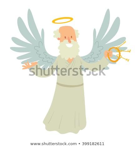 Homem asas de anjo dourado abstrato Foto stock © boroda