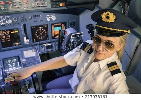 Beautiful blonde woman as a pilot. Stock photo © NeonShot