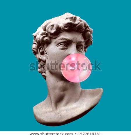 Sculpture fontaine visage homme portrait tête Photo stock © manfredxy