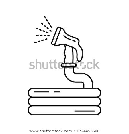 garden hose with nozzle Stock photo © shutswis
