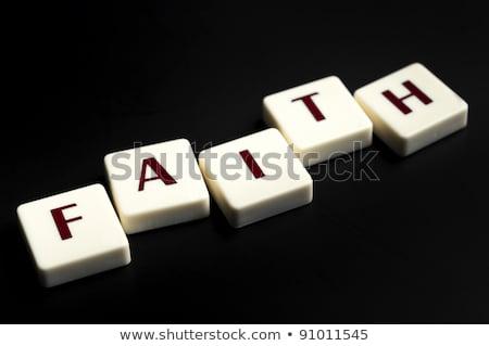 доверия слово частей письме играть профессиональных Сток-фото © fuzzbones0