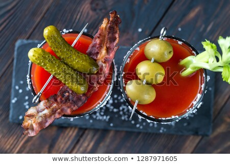 Bloody Mary on black board Stock photo © netkov1