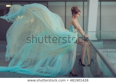 Fashion gorgeous woman in fluttering dress. Beautiful elegant la Stock photo © Victoria_Andreas