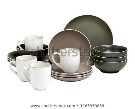 Modernes théière blanche eau cuisine acier Photo stock © shutswis
