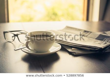 コーヒー 新聞 実例 白 ビジネス 教育 ストックフォト © get4net