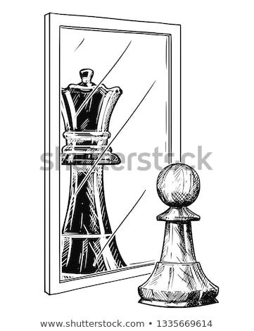 depressie · schaken · metaforen · weinig · Rood · pion - stockfoto © grechka333