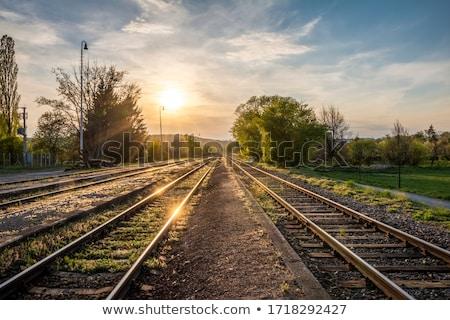 railway in sunny spring day stock photo © hraska