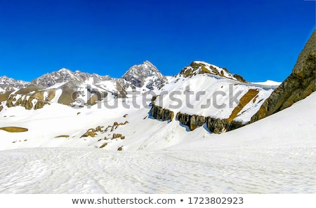 Mountain covered with snow Stock photo © lostation