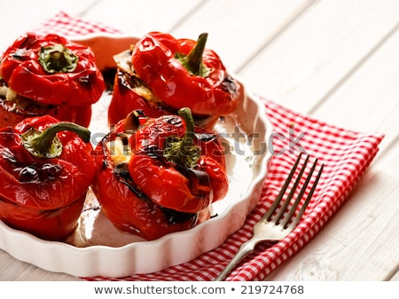 Sweet stuffed pepper Stock photo © dmitroza