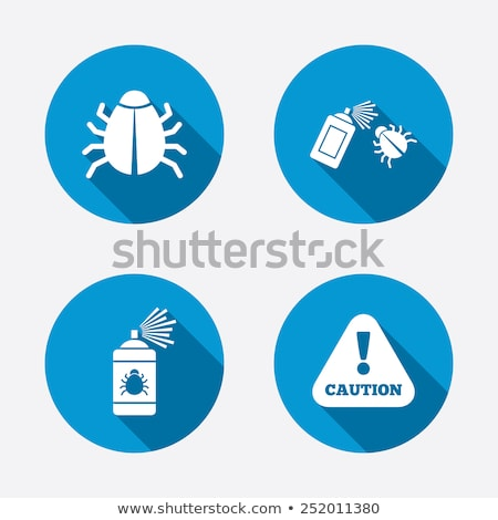 circle buttons with insects stock photo © bluering