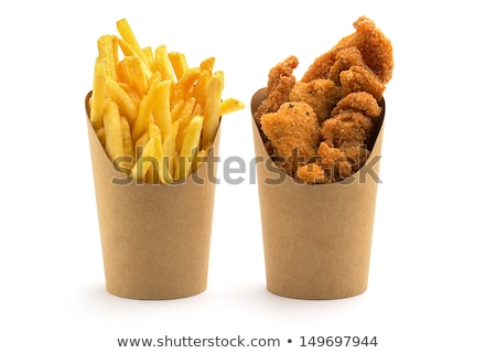 fish nuggets and french fries stock photo © m-studio