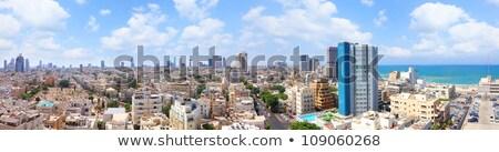 Kilátás tetők öreg Izrael modern épületek Stock fotó © meinzahn