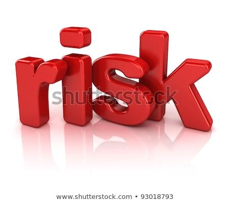 puzzle · parola · rischio · pezzi · del · puzzle · ufficio · costruzione - foto d'archivio © fuzzbones0