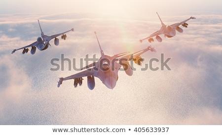 Myśliwiec jet ilustracja biały płaszczyzny nauki Zdjęcia stock © bluering
