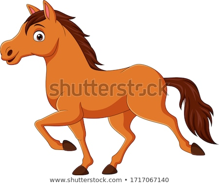 Cute Cartoon Horse Stock photo © Genestro