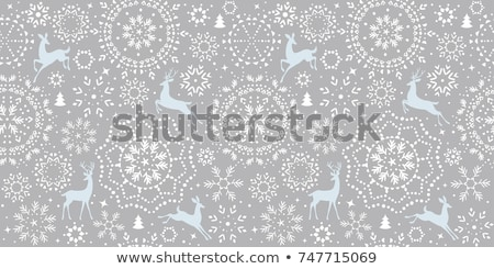 seamless pattern of snowflakes eps 10 stock photo © beholdereye