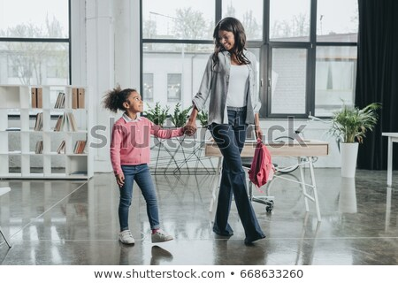 Mother walking with daughter stock photo © sapegina