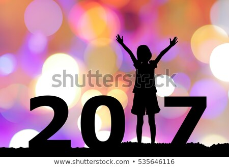 beautiful bokeh background for 2017 happy new year with soft col Stock photo © SArts