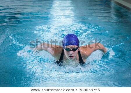 dość · kobiet · pływak · basen · codziennie · dawka - zdjęcia stock © lightpoet