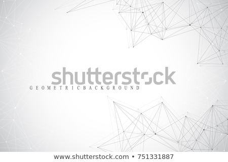 Streszczenie 3D chaotyczny cząstki niebieski Zdjęcia stock © fresh_5265954