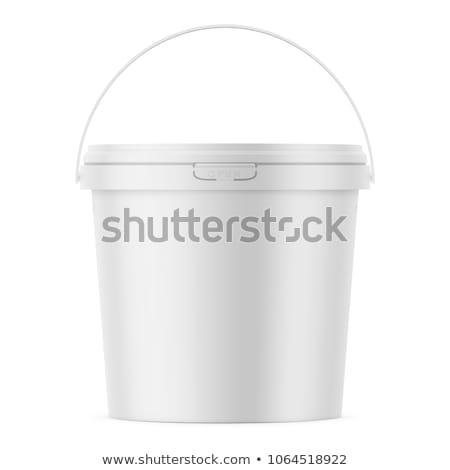 Manejar blanco verde plástico contenedor Foto stock © dezign56