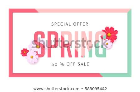 лет · весны · продажи · плакат · дизайна · оранжевый - Сток-фото © adamson