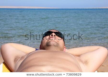 funny tourist face in sunglasses Stock photo © Mikko