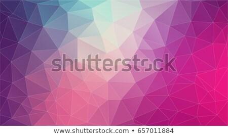 Flat 2D bright violet abstract triangle shape background Stock photo © igor_shmel