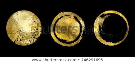 Altın daire metal doku vektör soyut arka plan Stok fotoğraf © SArts