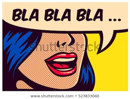 bla comic word Stock photo © studiostoks