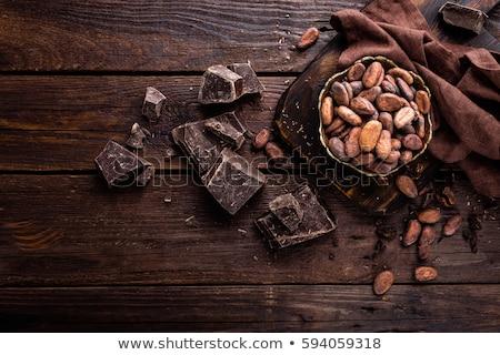 Foto stock: Chocolate · comida · madeira · fundo
