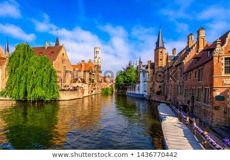 old street in bruges belgium stock photo © artjazz