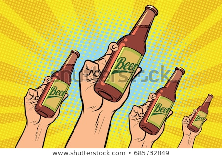 many hands with a bottle of beer stock photo © studiostoks