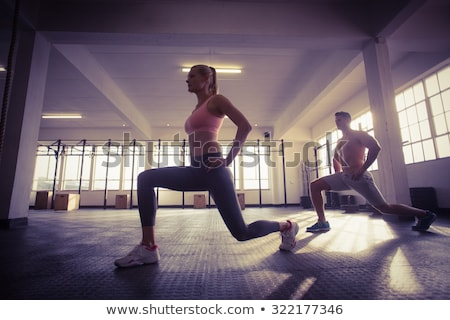 Muscular shirtless man posing in crossfit gym Stock photo © wavebreak_media