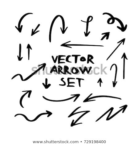 doodle arrow symbols set stock photo © pakete