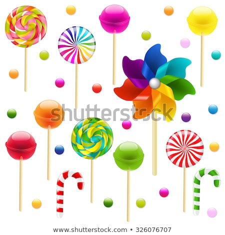 Lollypop Set With Pinwheel Stock photo © barbaliss