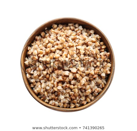 bowl of buckwheat cereal isolated healthy food for breakfast v stock photo © maryvalery