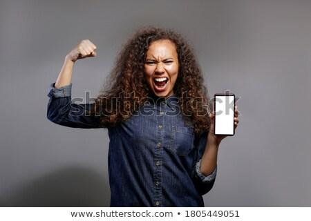 сильный ад Вдохновенный феминистский Сток-фото © zsooofija