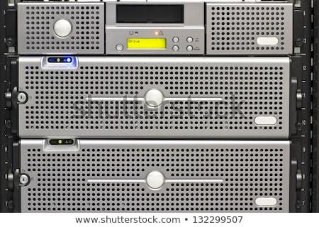 Rack serwera pokój szczęśliwy komunikacji Zdjęcia stock © wavebreak_media