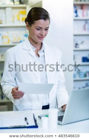 Arzt Eintrag Medizin Laptop Krankenhaus Frau Stock foto © wavebreak_media