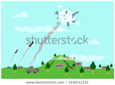 飛行 · ミサイル · 軍事 · ロケット · 爆弾 · 空 - ストックフォト © jeff_hobrath