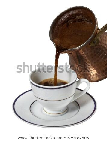 керамической банка кофе изолированный белый турецкий Сток-фото © alinamd