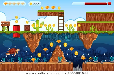 Avontuur spel grond onderwater scène illustratie Stockfoto © bluering
