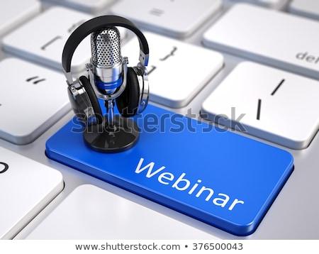 Blue Online Learning Key on Keyboard. Stock photo © tashatuvango