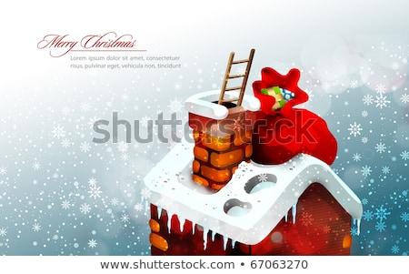 サンタクロース 袋 プレゼント 登山 煙突 ポップアート ストックフォト © studiostoks