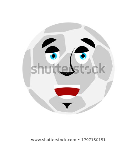 soccer ball happy emoji football ball merry emotion avatar stock photo © popaukropa