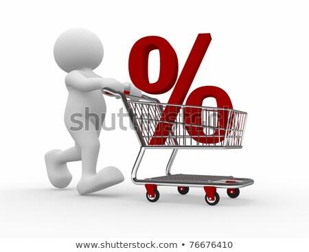 3d Man With Discount Cart Stock fotó © CoraMax
