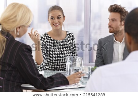 4 moods of an elegant young businessman  Stock photo © feedough