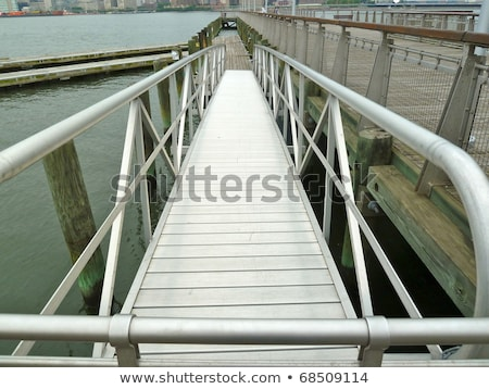 Aluminum dock ramp Stock photo © bobkeenan